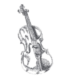 musical instrument violin on white background vector image