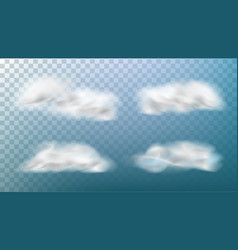 realistic clouds isolated on transparent vector image vector image