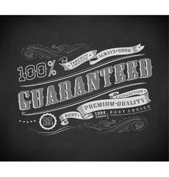 Retro vintage label typography vector