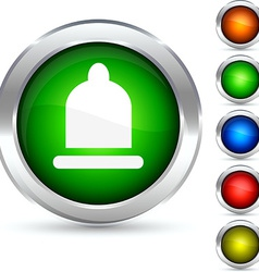 Safety button vector image vector image