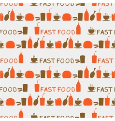 seamless background of fast food vector image