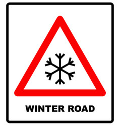snow warning sign weathered with snowflaces vector image vector image