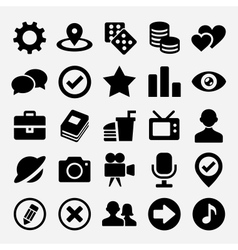 Social net icons set vector