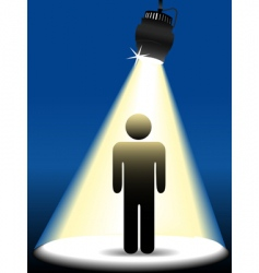symbol person on stage vector image vector image