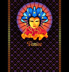 Venice postcard vector image