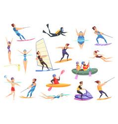 water sports set vector image vector image
