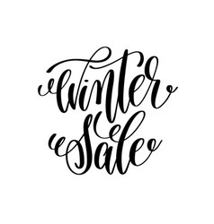 winter sale hand lettering inscription to winter vector image vector image