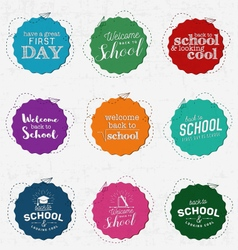 Back to school and looking cool badges vector