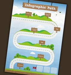 Infographic path template vector image