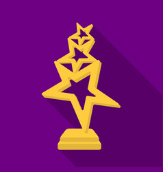 The reward in the form of gold stars on a stand vector