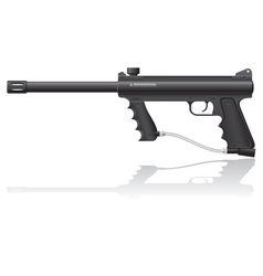 Paintball marker 01 vector