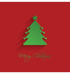 christmas tree background 1710 vector image