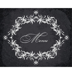 Baroque ornamental frame vector