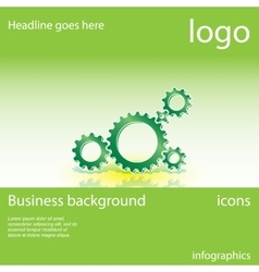 Gear business background vector
