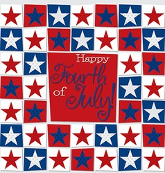 Mosaic funky independence day card in format vector