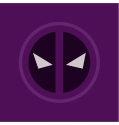 Evil eye abstract purple logo sign flat style art vector
