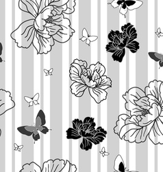floral butterflies wallpaper vector image