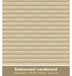 Embossed cardboard seamless vector