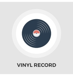 Record flat icon vector