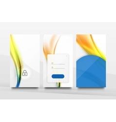 Mobile application interface background design vector