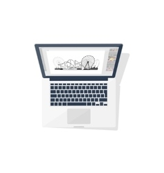 Digital drawing personal computer laptop vector