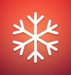 Abstract snowflake icon on colorful background vector