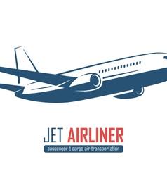 Airliner emblem on white background vector