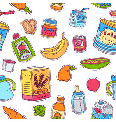 baby food child healthy nutrition vegetable vector image
