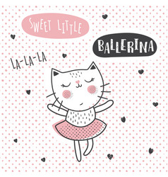 Ballerina cat vector