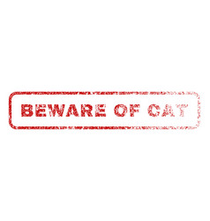 Beware of cat rubber stamp vector