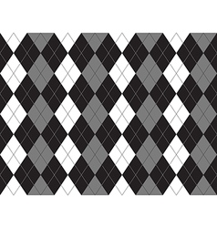 Black white gray argyle textile seamless pattern vector image