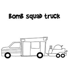 Bomb squad truck vector