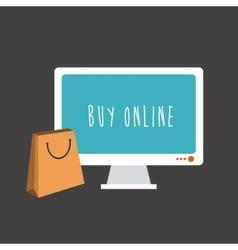 Buy online vector image vector image