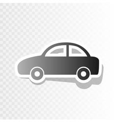 Car sign new year blackish vector