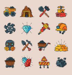 coal engineering mining industry work business vector image