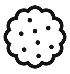 Cookies icon simple style vector