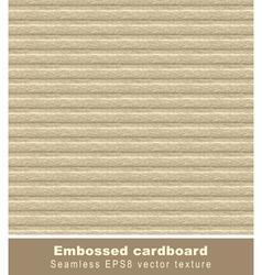 embossed cardboard seamless vector image
