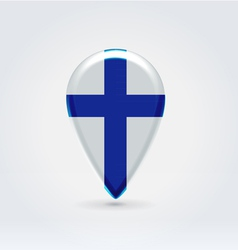 Finland icon point for map vector image