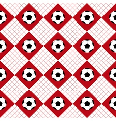 Football ball red white chess board diamond vector