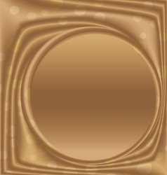 Gold metal picture frame from the right circle vector