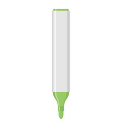 Green marker isolated office stationery school vector