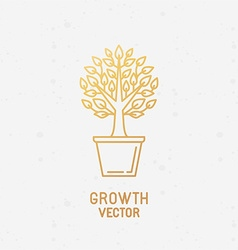Growth concept and logo design element vector