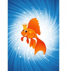 magic goldfish vector image vector image