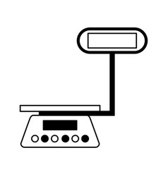 Measure weight balance icon vector