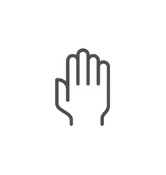 Palm line icon vector