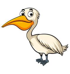 Pelican with happy face vector