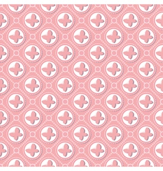 Pink butterfly pattern art vector image vector image