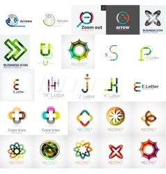Set of universal company logos and design elements vector image
