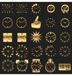Set of watch icons vector image vector image
