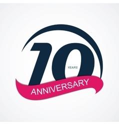 Template logo 10 anniversary vector